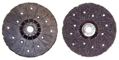 "Silicone Grinding Disc complete with built-in Backing Pad. Epoxy / Glue / Paint Removal Disc from concrete surfaces - ""Will not clog""."