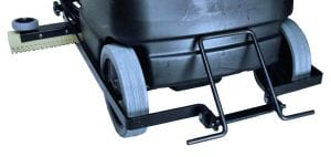 "Convenient rear foot pedal raises and lowers the 30"" squeegee."