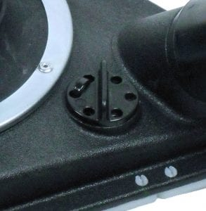 Adjustable Air Vent for suction control.