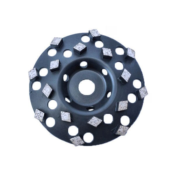Rhombus Segment Diamond Cup Wheels - Coatings Removal + Fast Aggressive Concrete Removal.