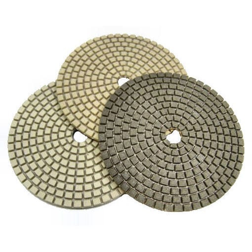 "Supreme Resin Polishing Pads, 3mm - 3"", 4"", 5"", 7"" Diameters."