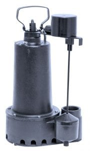 "Cast Iron 1/3 HP Effluent Pump, 7.6 Amp, 1-1/2"" Discharge - handles 5/8"" solids."