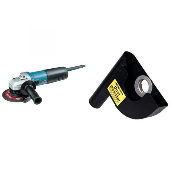 """7"""" dust director and makita 5"""" angle grinder combo"""